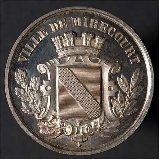 Médaille de la société horticole, agricole et viticole de Mirecourt