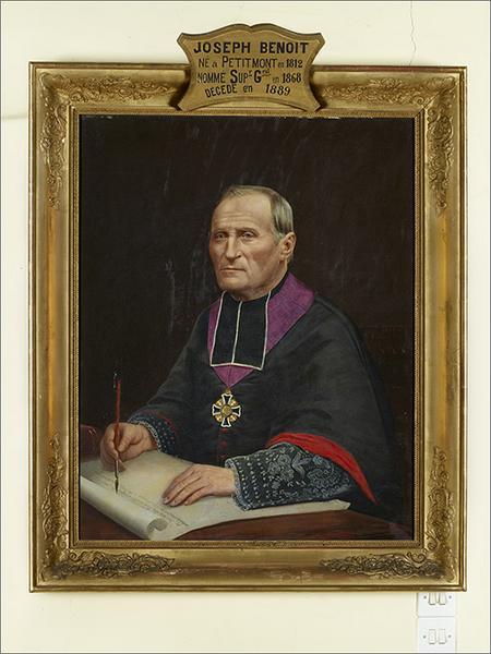 Ensemble de 7 tableaux : portraits des supérieurs ecclésiatiques de la congrégation de la Doctrine chrétienne
