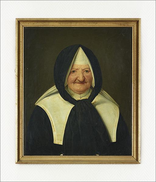 Ensemble de 20 tableaux (peintures, photographies, dessins) : portraits des supérieures générales de la congrégation de la Doctrine chrétienne