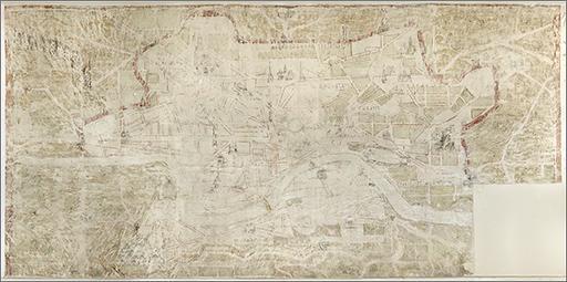 Peinture monumentale : plan de Rome