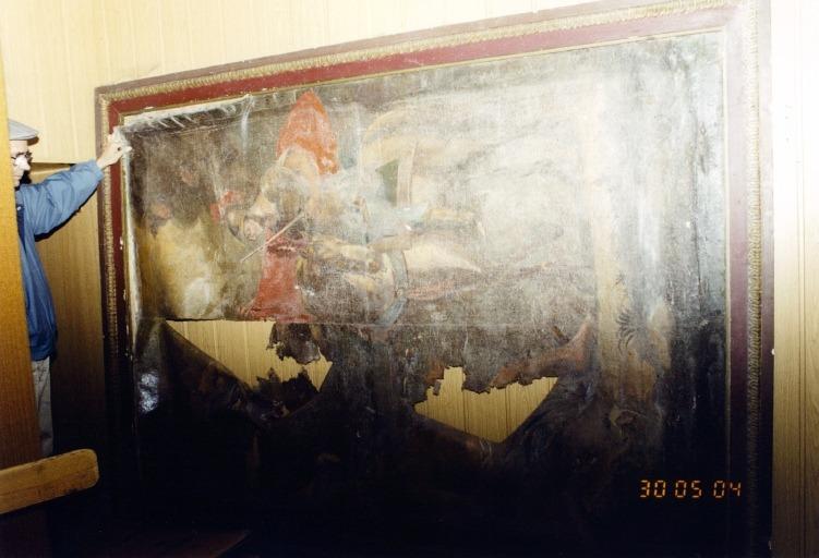 Tableau : Charité de saint Martin