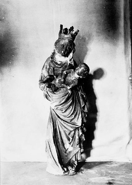 Statue d'applique : Vierge à l'Enfant