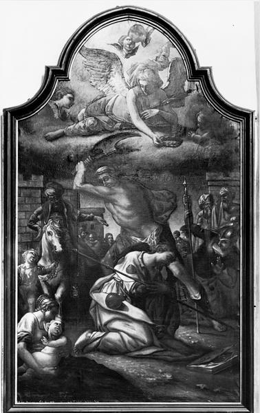 Tableau (tableau d'autel) : décollation de saint Jacques le Majeur