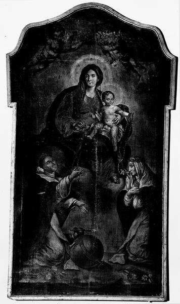Tableau d'autel : Notre-Dame du Rosaire