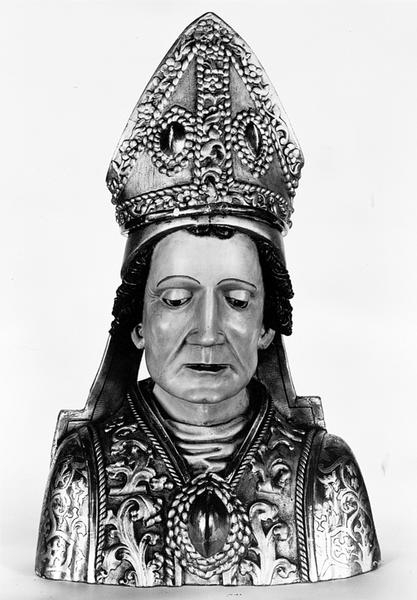 buste-reliquaire (d'applique) : saint Blaise