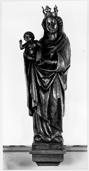 statue (d'applique) : Vierge à l'Enfant