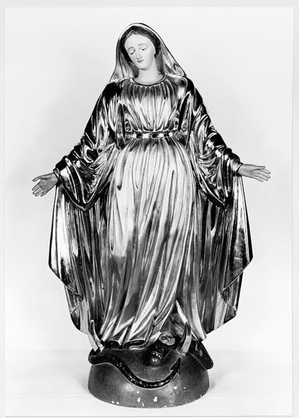 statue (d'applique) : Immaculée Conception