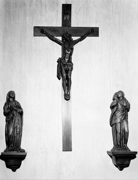 Groupe sculpté d'applique : Calvaire