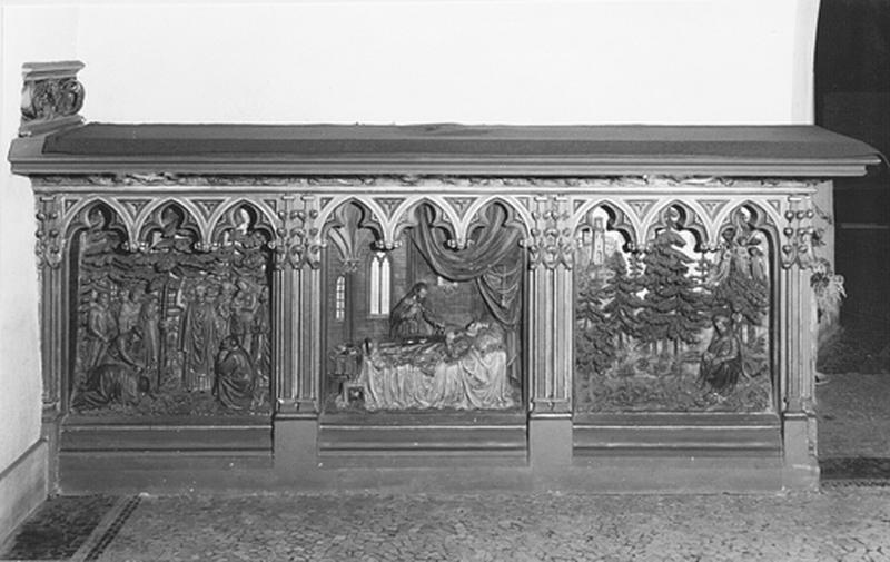 Autel secondaire de saint Thiébaut de Thann avec retable