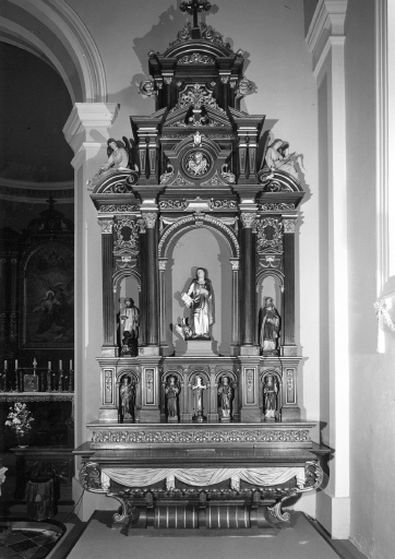 Autels secondaires de la Vierge et de saint Jean