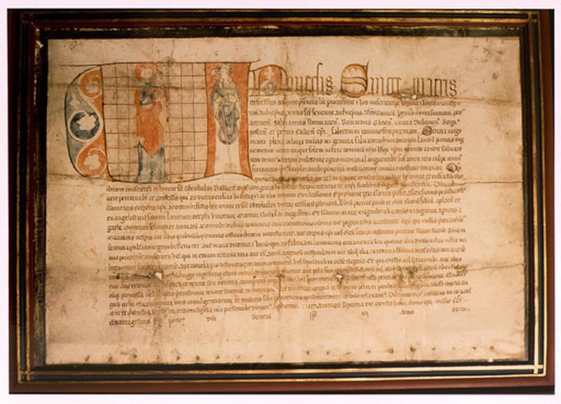 Manuscrit (lettre ornée) : saint Thiébaut de Thann