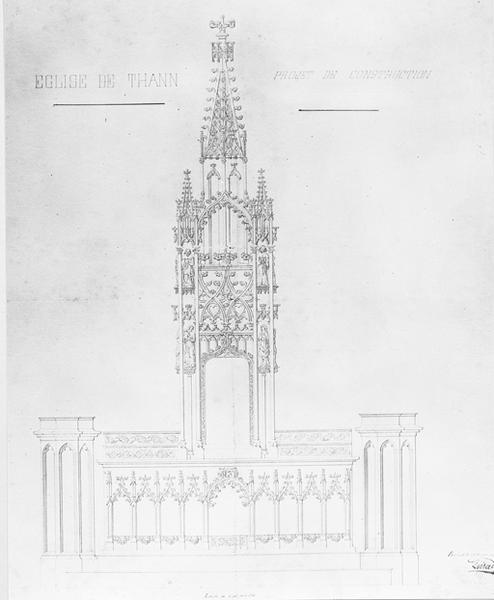 Maître-autel avec gradin d'autel, tabernacle