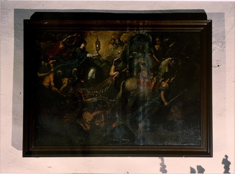 Tableau de chevalet : Triomphe de l'eucharistie sur l'ignorance et l'aveuglement