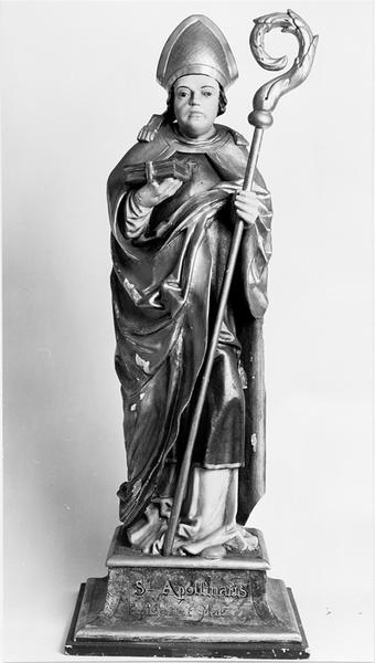 Statue d'applique : saint Apollinaire