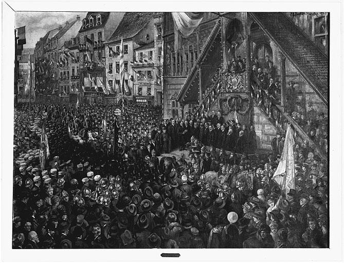 Tableau : Entrée des français à Mulhouse en 1918
