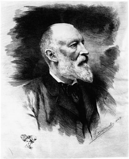estampe : portrait du sénateur Auguste Scheurer Kestner