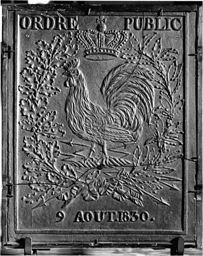 Plaque de poêle : coq Gaulois
