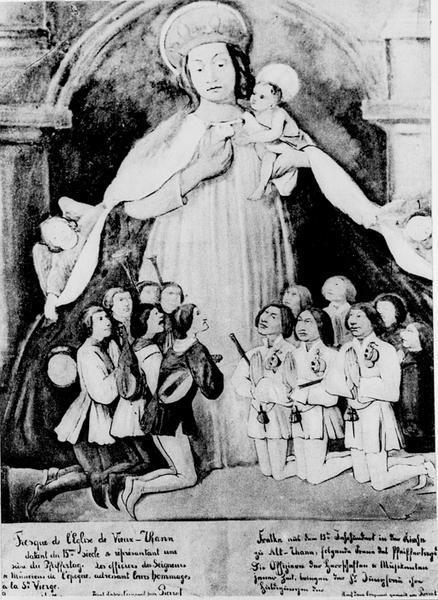 Tableau : Vierge des Ménétriers