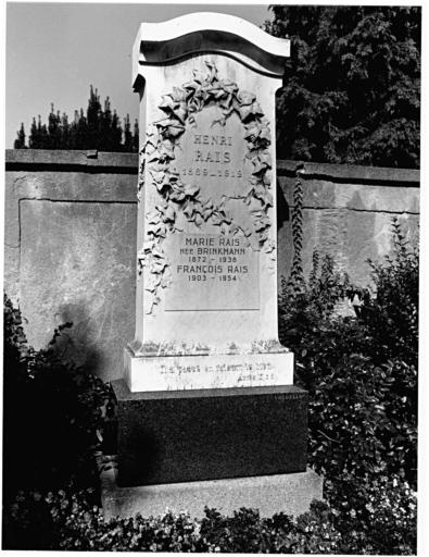 tombeau de Henri Rais No 14