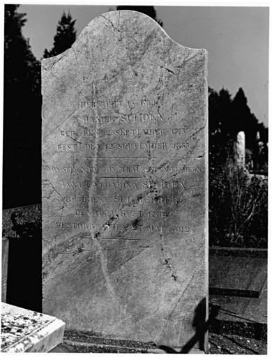 tombeau de Daniel et Anne Catherine Schoen No 6