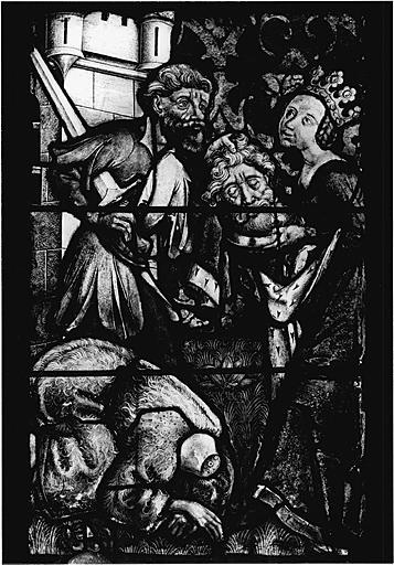 Verrière figurée : vie glorieuse du Christ et vie de saint Jean-Baptiste (baie No 2)