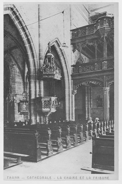 Orgue de tribune : buffet d'orgue ; garde-corps de tribune