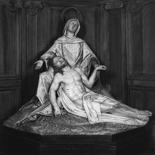 2 groupes sculptés : Mort de saint Joseph, Vierge de Pitié