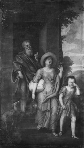 Tableau : Abraham chasse Agar et Ismaël