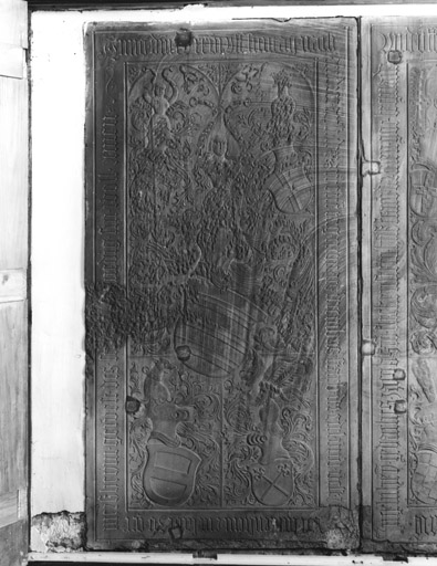 Dalle funéraire (2) (2, 3), de Jacques II de Fleckenstein, de Barbara d'Ingelheim