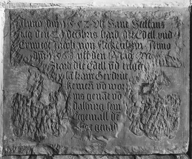 Dalle funéraire (4), de Jacques III de Fleckenstein, de Gertrude de Dalberg