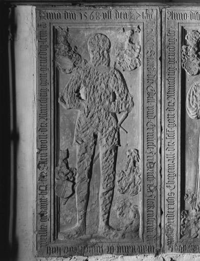 Dalle funéraire (2) (5, 6), de Frédéric de Fleckenstein, d'Anne de Dalberg