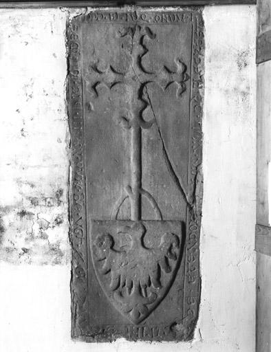 Dalle funéraire (1), de Gertrude d'Ettendorf