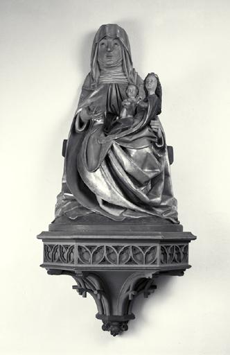 Groupe sculpté : sainte Anne trinitaire