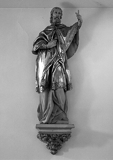 statue et groupe sculpté : Saint François Xavier-Saint Ignace de Loyola-Saint Charles Borromée(?), saint Joseph et l'Enfant Jésus