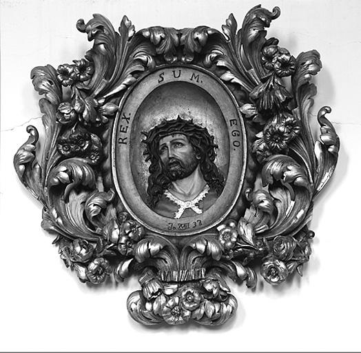 Relief, cadre : Ecce Homo, Christ de douleur