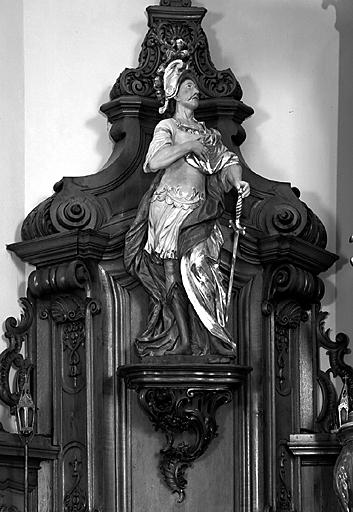 2 statues (grandeur nature) : saint Maurice, sainte Sophie