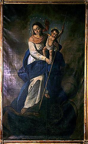 3 tableaux : sainte Catherine d'Alexandrie, Vierge à l'Enfant de l'Immaculée Conception, saint Joseph