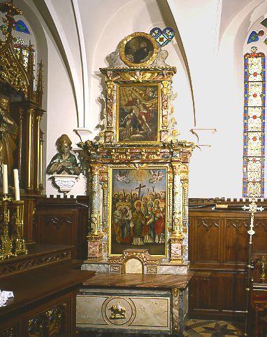 Autel, retable (autel secondaire), ancien autel des 14 saints intercesseurs