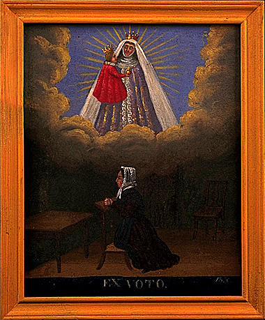 Ex-voto, tableau : Vierge à l'Enfant