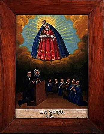 Ex-voto, tableau : Vierge de Pitié (3)
