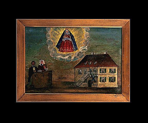 Ex-voto, tableau : Vierge de Pitié (5)