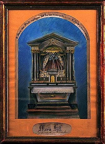 Ex-voto, tableau : Vierge de Pitié (1)