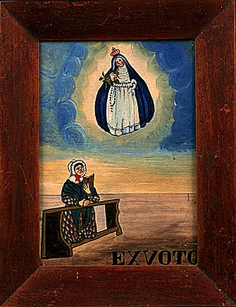 Ex-voto, tableau : Vierge de Pitié (2)