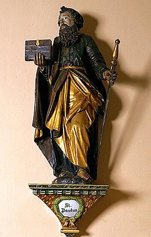 2 statues : saint Pierre, saint Paul