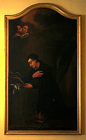 2 tableaux : saint Gilles, saint Louis de Gonzague