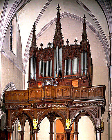 Orgue, tribune, style néo-gothique