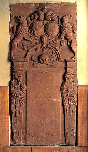 Dalle funéraire, de Nicolas-Frédéric de Rothenbourg et d'Anne-Jeanne de Rosen