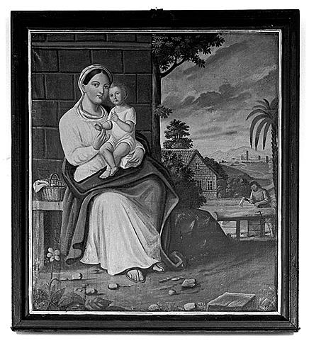 2 tableaux : Sainte Cécile, sainte Marie Madeleine