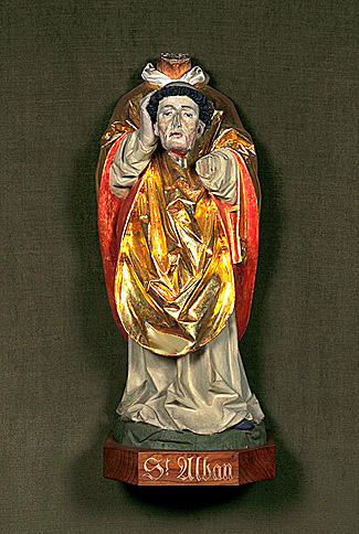 statue : saint Alban de Mayence