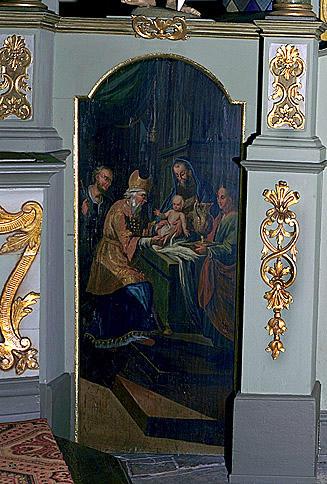 3 tableaux : Mariage de la Vierge, Nativité, Circoncision